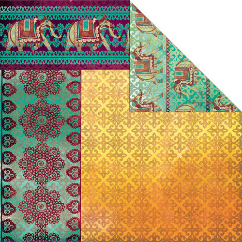 Creative Imaginations - Marrakesh Collection - 12 x 12 Double Sided Paper - Bombay