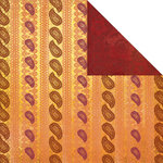 Creative Imaginations - Marrakesh Collection - 12 x 12 Double Sided Paper - Saffron