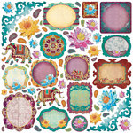 Creative Imaginations - Marrakesh Collection - Die Cut Pieces - Marrakesh Shapes