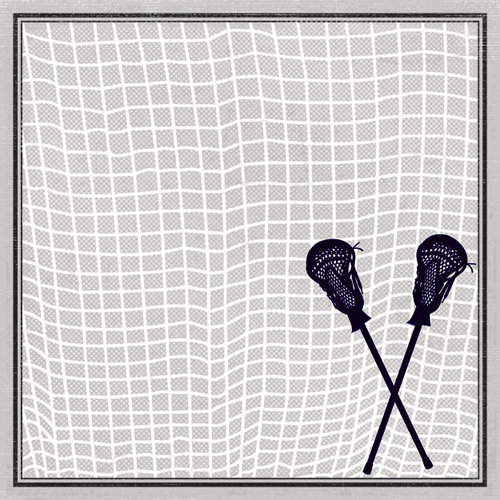 Creative Imaginations - Lacrosse Collection - 12 x 12 Paper - Sticks