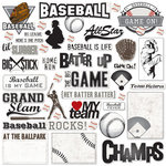 Creative Imaginations - Art Warehouse by Danelle Johnson - Baseball Line Collection - Die Cut Pieces - Baseball Shapes