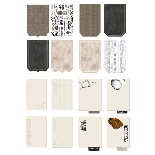 Creative Imaginations - Art Warehouse by Danelle Johnson - Baseball Line Collection - Die Cut Journaling Pad - Baseball