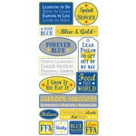 Creative Imaginations - FFA Convention Collection - Cardstock Stickers - Forever Blue