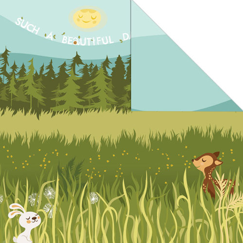 Creative Imaginations - Forest Critters Collection - 12 x 12 Double Sided Paper - Beautiful Day