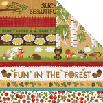 Creative Imaginations - Forest Critters Collection - 12 x 12 Double Sided Paper - Forest Fun