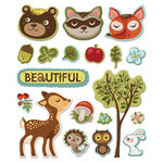 Creative Imaginations - Forest Critters Collection - Epoxy Stickers - Forest Critters