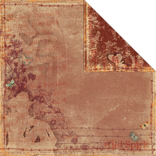 Creative Imaginations - Wild Spirit Collection - 12 x 12 Double Sided Paper - Country Girl