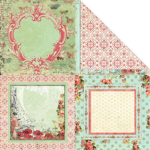 Creative Imaginations - Devotion Collection - 12 x 12 Double Sided Paper - Devotion Frames