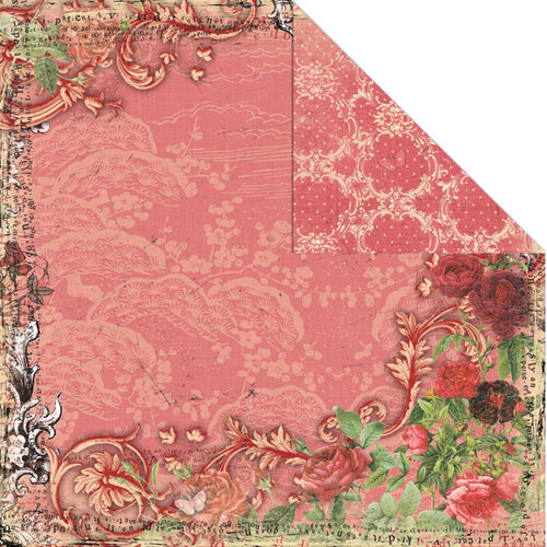 Creative Imaginations - Devotion Collection - 12 x 12 Double Sided Paper - Passion