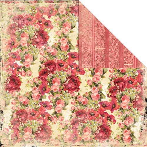 Creative Imaginations - Devotion Collection - 12 x 12 Double Sided Paper - Rose Garden