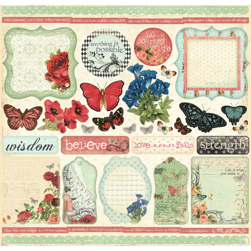 Creative Imaginations - Devotion Collection - 12 x 12 Cardstock Stickers - Devotion