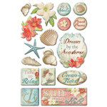 Creative Imaginations - Beach Cottage Collection - Epoxy Stickers - Beach Cottage