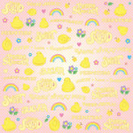 Creative Imaginations - Peeps Collection - 12 x 12 Paper with Glitter Accents - Peeptastic