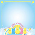 Creative Imaginations - Peeps Collection - 12 x 12 Paper with Glitter Accents - Peepsters