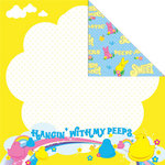 Creative Imaginations - Peeps Collection - 12 x 12 Double Sided Paper - Hanging with My Peeps