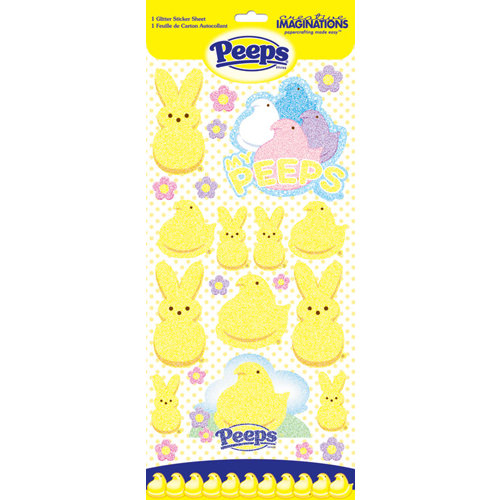 Creative Imaginations - Peeps Collection - Glitter Cardstock Stickers - Peeps