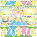 Creative Imaginations - Peeps Collection - Die Cut Pieces with Glitter Accents - Peeps