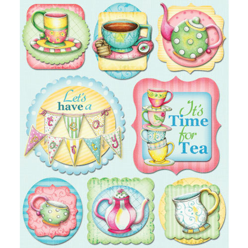 Creative Imaginations - Tea Time Collection - Layered Cardstock Stickers - Tea Time
