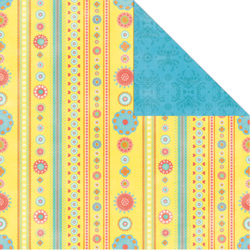 Creative Imaginations - Heidi Collection - 12 x 12 Double Sided Paper - Heidi Stripe