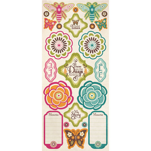 Creative Imaginations - Blossom Collection - Cardstock Stickers - Blossom