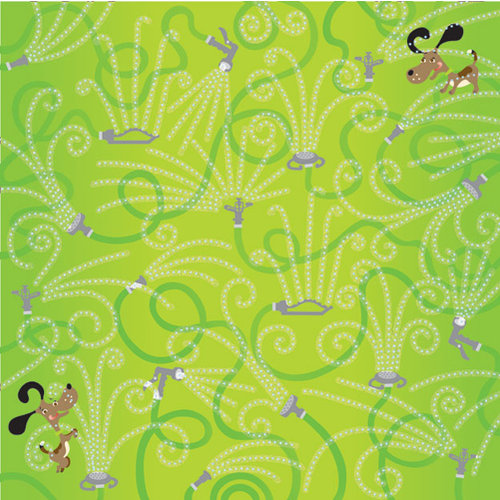Creative Imaginations - Splish Splash Collection - 12 x 12 Paper with Glitter Accents - Get Wet
