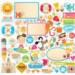 Creative Imaginations - Splish Splash Collection - Die Cut Pieces - Splish Splash Shapes