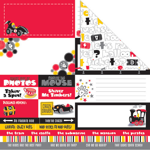 Creative Imaginations - Magic Attractions Collection - 12 x 12 Double Sided Paper - Magic Memories