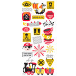 Creative Imaginations - Magic Attractions Collection - Cardstock Stickers with Foil Accents