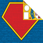 Creative Imaginations - Super Hero Collection - 12 x 12 Double Sided Paper - Super Hero