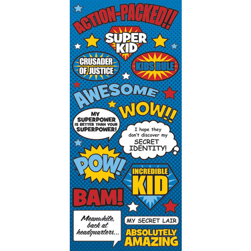 Creative Imaginations - Super Hero Collection - Cardstock Stickers - Super Hero