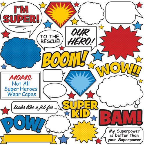 Creative Imaginations - Super Hero Collection - Die Cut Pieces - Super Hero