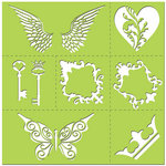 Creative Imaginations - Existencil Expressions Collection - 12 x 12 Stencil Kit Sheet - Monarch