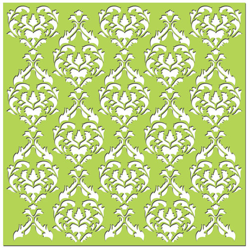 Creative Imaginations - Existencil Expressions Collection - 12 x 12 Stencil Sheet - Bon Soir