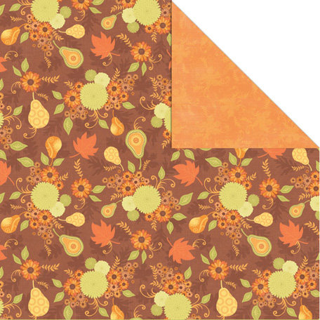 Creative Imaginations - Orchard Harvest Collection - 12 x 12 Double Sided Paper - Fall Harvest