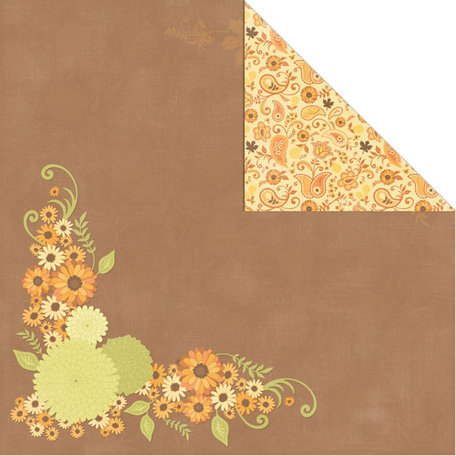 Creative Imaginations - Orchard Harvest Collection - 12 x 12 Double Sided Paper - Autumn Boutique