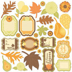 Creative Imaginations - Orchard Harvest Collection - Die Cut Cardstock Pieces - Orchard Harvest