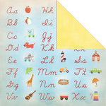 Creative Imaginations - A to Z Collection - 12 x 12 Double Sided Paper - Cursive