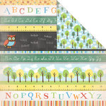 Creative Imaginations - A to Z Collection - 12 x 12 Double Sided Paper - ABC Stripe