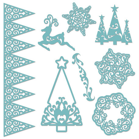 Creative Imaginations - Existencil Expressions Collection - Christmas - 12 x 12 Stencil Sheet - Christmas Time
