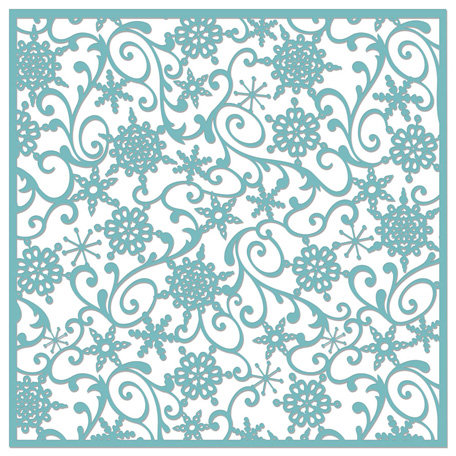 Creative Imaginations - Existencil Expressions Collection - Christmas - 12 x 12 Stencil Sheet - Falling Snowflakes