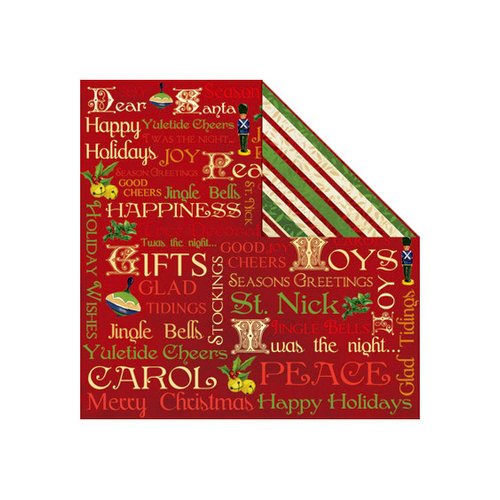 Creative Imaginations - Dear Santa Collection - Christmas - 12 x 12 Double Sided Paper - Glad Tidings