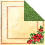 Creative Imaginations - Dear Santa Collection - Christmas - 12 x 12 Double Sided Paper - Poinsettia