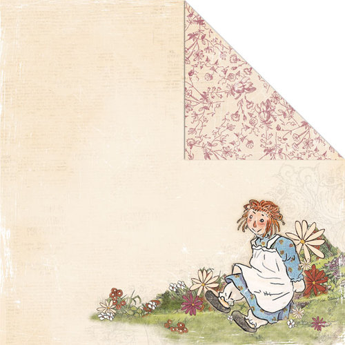 Creative Imaginations - Ragamuffin Collection - 12 x 12 Double Sided Paper - Raggedy Girl