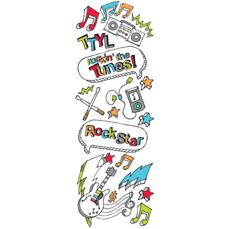 Creative Imaginations - KidDoodle Collection - Cardstock Stickers - Tunes