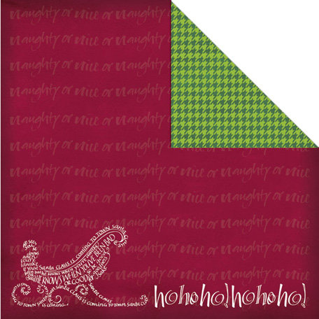 Creative Imaginations - Tidings of Joy Collection - Christmas - 12 x 12 Double Sided Paper - Santa is Coming