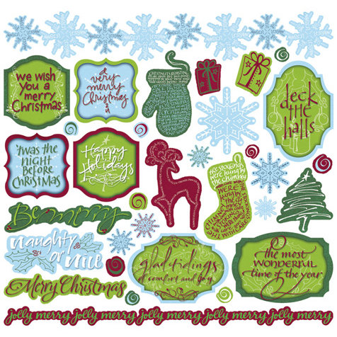 Creative Imaginations - Tidings of Joy Collection - Christmas - 12 x 12 Cardstock Stickers - Tidings of Joy