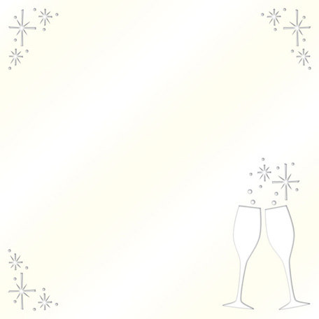 Creative Imaginations - Cheers Collection - 12 x 12 Die Cut Paper with Pearl Accents - Toast