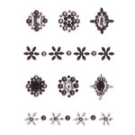 Creative Imaginations - Cheers Collection - Bling - Self Adhesive Gems - Black Minis
