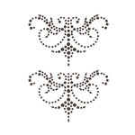 Creative Imaginations - Cheers Collection - Bling - Self Adhesive Gems - Black Flourish