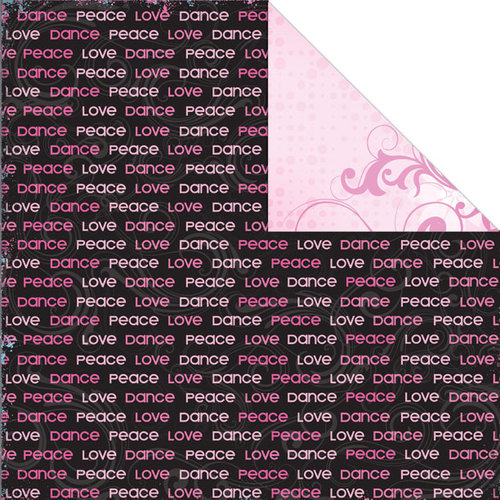 Creative Imaginations - Dance Collection - 12 x 12 Double Sided Paper - Peace